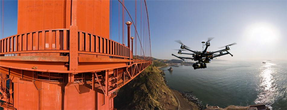 inspection de pont avec des drones