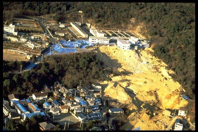 effet de site : glissement pendant séisme du japon