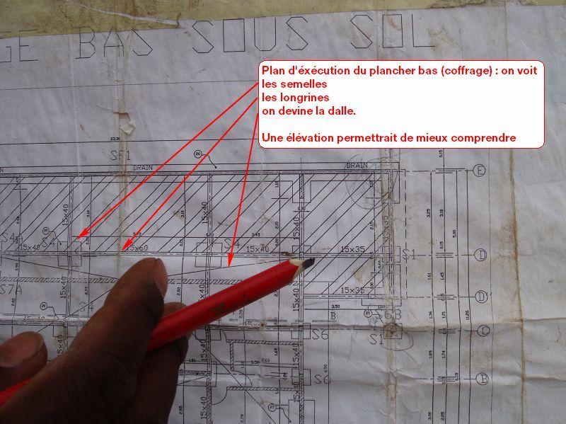 plan de ferraillage des armatures inférieures